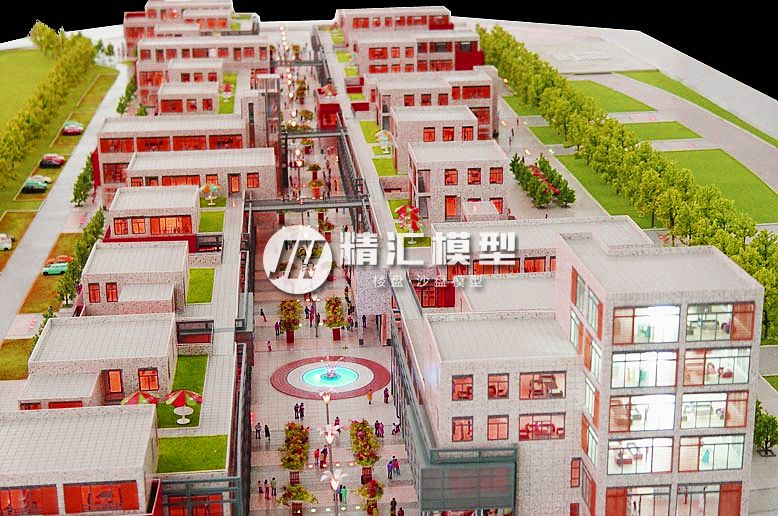 商业步行街沙盘建筑模型