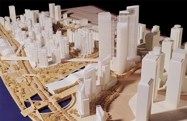 新型商业体建筑模型设计效果展示