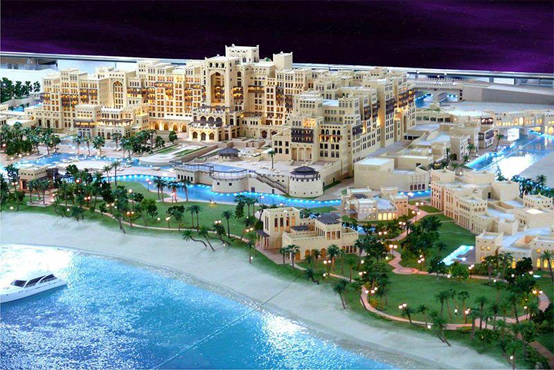 大型休闲度假区沙盘模型效果展示