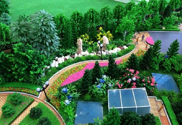 自然生态公园景观沙盘模型实例