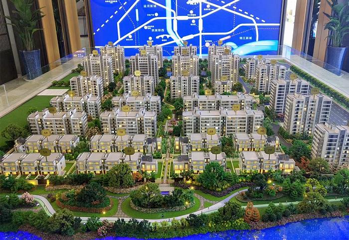 南阳花园式小区沙盘模型规划设计方案