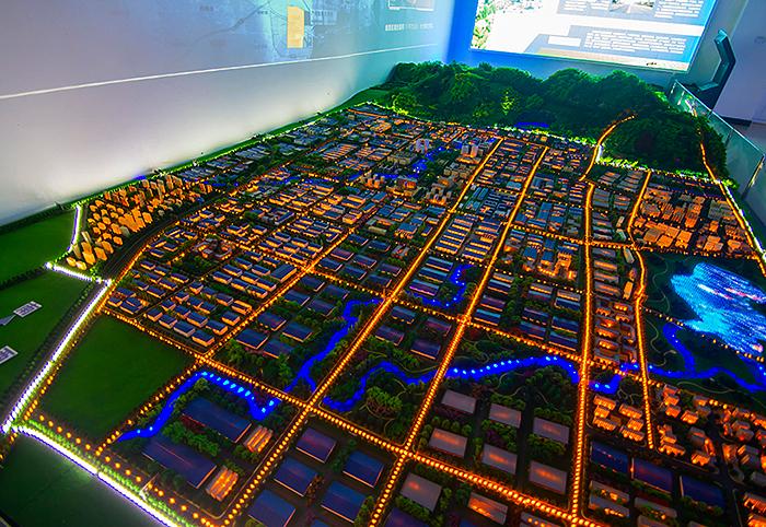 商业规划区位沙盘模型设计效果案例