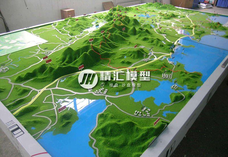 山体规划沙盘模型效果