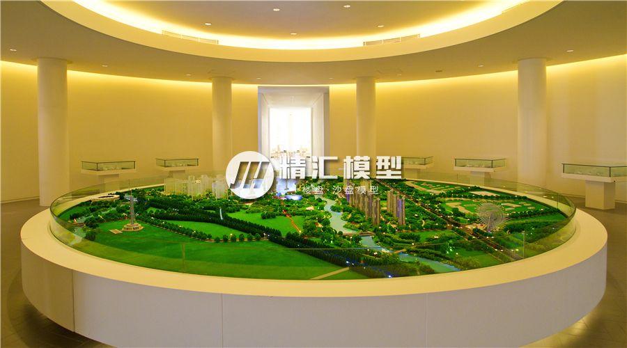 房地产楼盘沙盘模型整体效果展示,沙盘模型底座为木质结构
