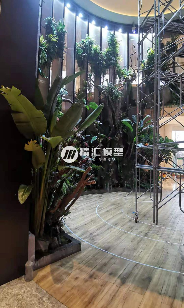 热带雨林效果沙盘