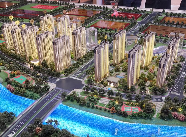 郑州房地产沙盘模型制作公司楼盘模型案例